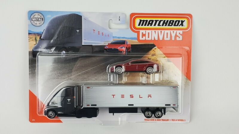 Tesla Semi /& Box Trailer \\\ Tesla Model S Convoys 27402 Matchbox Convoys