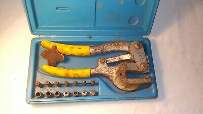 Roper Whitney No. 5 Jr Hand Punch 7 Piece Set Wpunches And Key In Case