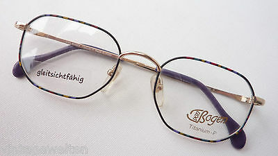 Titanbrillen Gestell Brillenfassung frame eckig multicolor nickelfrei Grösse S