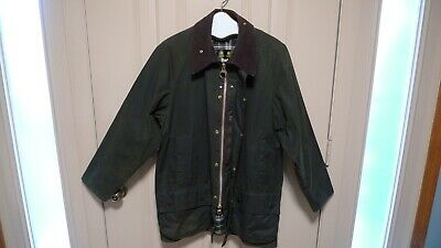 BARBOUR -A150 BEAUFORT WAX COTTON JACKET- SAGE-MADE IN  ENGLAND--SIZE 42