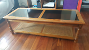 Wood/Glass Coffee Table Shailer Park Logan Area Preview