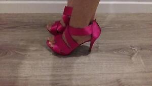 Women's Ladies Fuchsia High Heels, Size 9 Cronulla Sutherland Area Preview