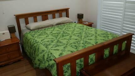 """Solid Timber Queen Bedroom Suite & """"My Side"""" Mattress"""