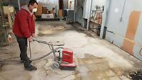Concrete grinding & glue removal in Toronto