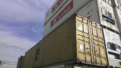 Used 40 Dry Van Steel Storage Container Shipping Cargo Conex Seabox Columbus