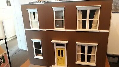 Vintage 1940 style unique Dolls House Handmade 1.12th. Local Delivery Available.
