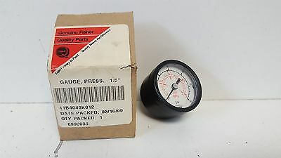 New Old Stock Genuine Fisher Back Connection 18 Pressure Gauge 11134040x012