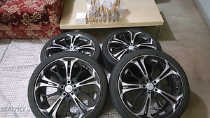 "18"" Rims Multi Studs + Tyres + King Springs 4 Honda Euro 05 Sets Taylors Hill Melton Area Preview"