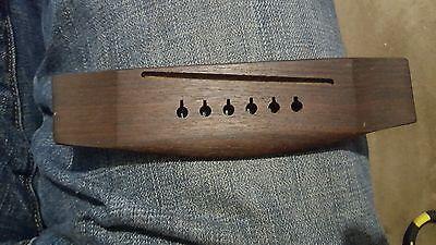 Rosewood or  teak walnut ? 6 string ACOUSTIC GUITAR BRIDGE  free USA shipping