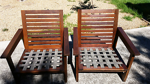 2 jarrah deck chairs Salisbury North Salisbury Area Preview