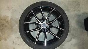 Set of 4 PDW Poison 18x8 wheels with tyres to suit Holden South Nowra Nowra-Bomaderry Preview