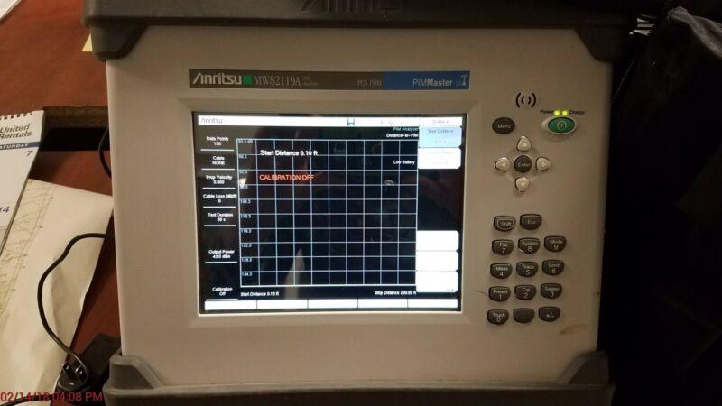 ANRITSU MW82119A 1900 Mhz CELLUAR BAND PIM PASSIVE INTERMODULATION ANALYZER