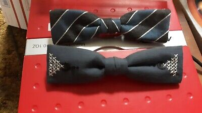 1940s Mens Ties | Wide Ties & Painted Ties 2 vtg Clip-On BOW TIE Ormond NYC c-1940s to 60s $8.00 AT vintagedancer.com
