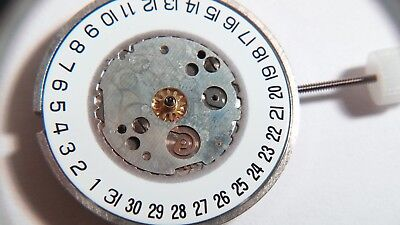 ETA quartz movement, 400.411, date at 6, NOS, 10L (22mm), thickness 3.25, functi for sale  Shipping to India