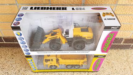RC MAN TGA dump truck + Liebherr L564 front loader