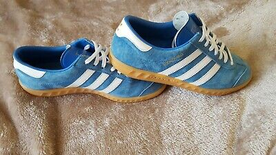 adidas originals hamburg blue and white suede size 6 worn a handful of times