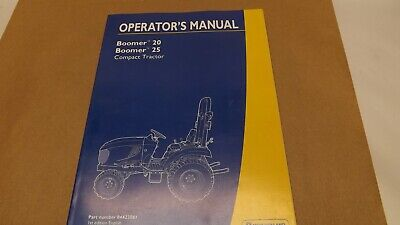 New Holland Boomer 20 25 Compact Tractor Operators Manual