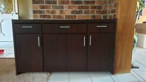 Mahogany buffet with glass top Castle Hill The Hills District Preview