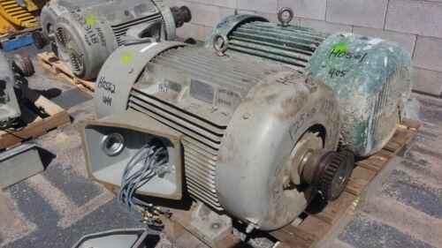 125 HP Siemens Electric Motor, 1800 RPM, 444TS Frame, TEFC, 460 V, 1.15 S.F.