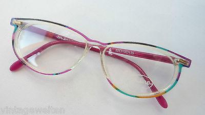 Online ausgefallene Kunststoffbrille Damenbrille Brillenfassungen 52-13 Gr. M