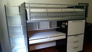 Bunk bed with storage, roll out desk and mattress. Primbee Wollongong Area Preview