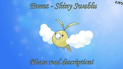 Shiny Swablu Event 6IV - Pokemon X/Y OR/AS S/M US/UM Sword/Shield