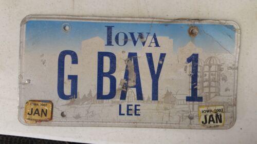 2007 IOWA Lee County License Plate G BAY 1