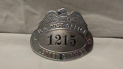 Vintage U S  Post Office Letter Carrier  Hat Badge  1215