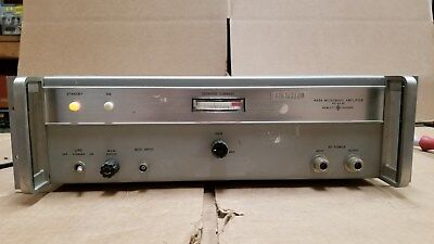 Hp 493a Microwave Amplifier 4.0-8.0ghz Good