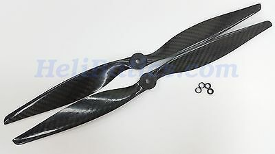 Pair 14x7 1470 Carbon fiber propeller CW/CCW for Tri/Quad/Hex/Octo-Copter #37 for sale  Shipping to India