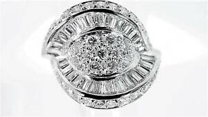 Gentlemen Stunning Platinum 2.59ct VS/F Diamond Designer Ring Innaloo Stirling Area Preview