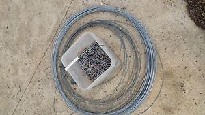 Wire and staples