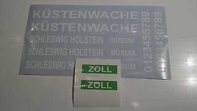 Beschriftung Aufkleber-Set SCHLESWIG HOLSTEIN - Büsum Polizeiboot / Küstenwache
