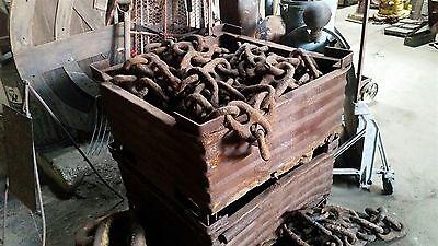 "(50 ft) ANTIQUE Rusty 8"" * STUD LINK * MARINE SHIP's ANCHOR CHAIN * Bethlehem"