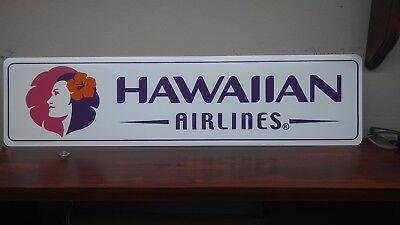 Hawaiian Airlines Logo  Aluminum Sign  6  X 24