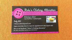 Ruku's clothing Alteration ( Cheapest ) Kuraby Brisbane South West Preview