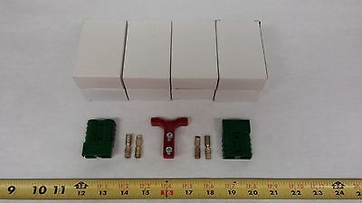 Anderson Original Battery Connector 6331g10 Green Mating Pair Handle Qty 4