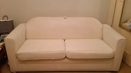 Cream Fold Out Couch