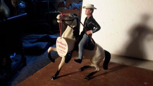 "Hartland Original ""MAVERICK"" w/Horse /Hat/Saddle Western Plastic Model"