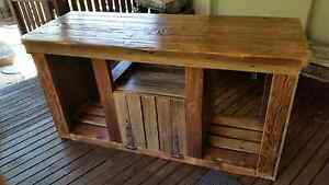 Absolutely beautiful rustic tv unit Custom built solid timber Toukley Wyong Area Preview