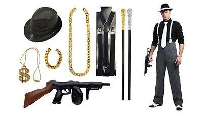 Italian Mobster Halloween Costumes (Boys Gangster Fancy Dress Costume - Halloween Book Day American Italian)