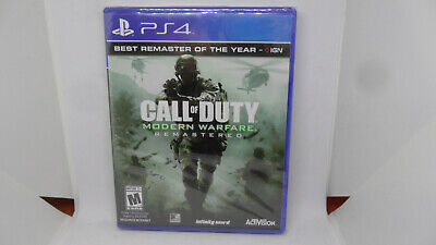 New Call of Duty: Modern Warfare Remastered (Sony PlayStation 4, 2017) PS4
