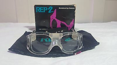 """Vintage Protective Glasses Goggles """"REP 2"""" By Eagle Eyewear INC. Size 52 DBL 20"""