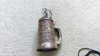 New! Disneyland Pirates Of The Caribbean Stein Mug 50th Anniversary +