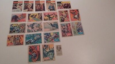 1958 Topps CBS trading cards 5 and 15 1966 Batman cards lot of 20