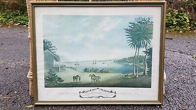 A view of dry Harbour in the Parish of St Ann's Jamaica vintage framed print
