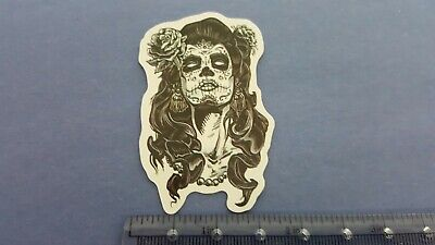 Day of the dead face paint with flower in hair sticker](Day Of The Dead Hair)