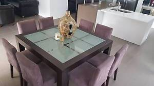 8x Suede Dining Chairs in Dark Mocca Colour Harrington Park Camden Area Preview