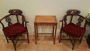 Chinese Rosewood Chair and Table Set Chatswood Willoughby Area Preview