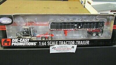 DCP#31892 MTB BLACK VOLVO VT800 SEMI DAY CAB TRUCK EAST END DUMP TRAILER 1:64/ for sale  Shipping to Canada